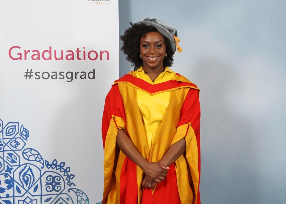 Chimamanda NgozI receives Honorary Doctorate Degree from SOAS