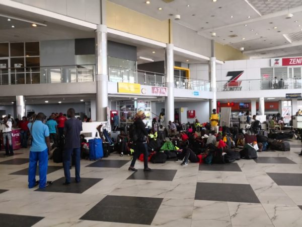 Asaba 2018: African Athletes stuck at Lagos Airport since Monday - Image ~ Naijabang