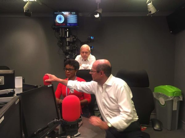 Bolanle-Austen-Peters at the BBC studios for Discuss on British Prime Minister's visit