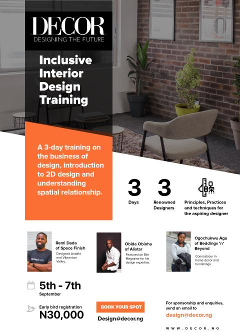 Don T Miss This Interior Design Training By Decor Nigeria