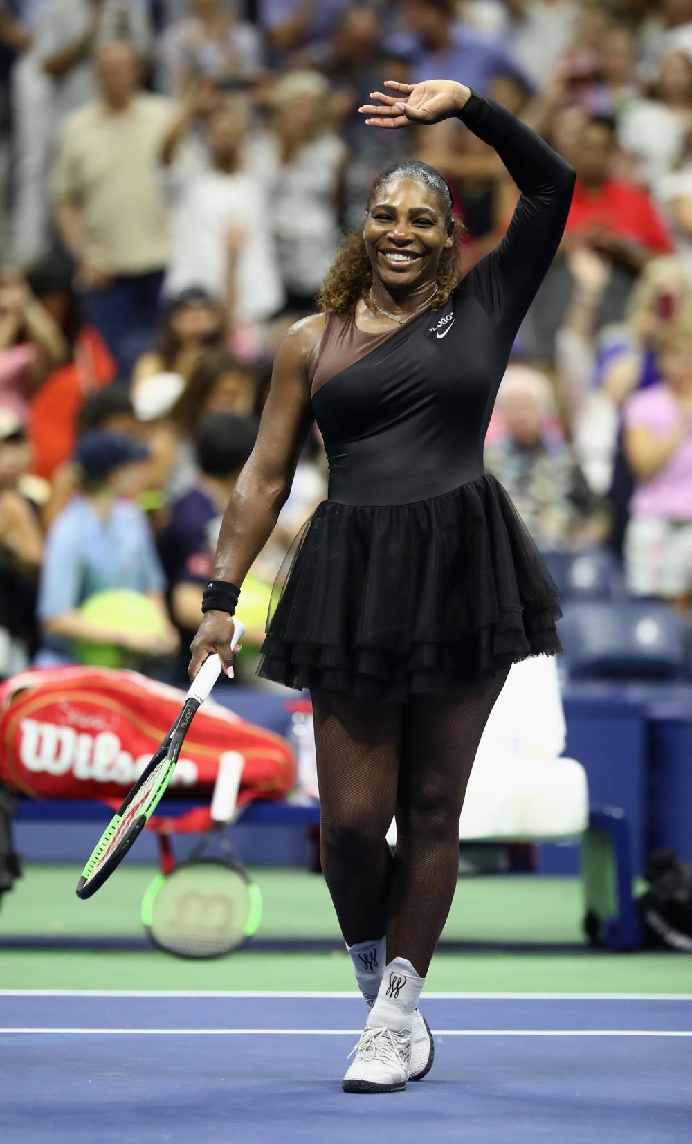 bf8fca7eda08 Serena Williams trades Catsuit for Nike   Off-White Tutus at  USOpen ...