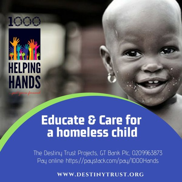 #1000HelpingHands Street Children Banner
