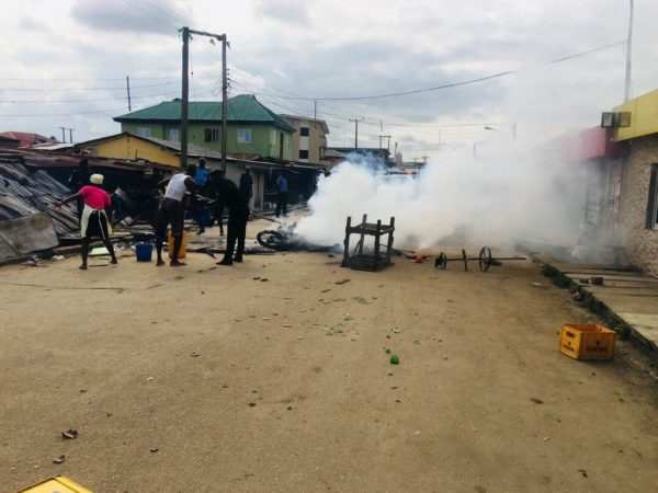 Police restore Order after Riot in Ketu | BellaNaija