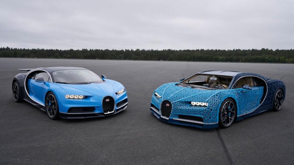 Bugatti Chiron and the LEGO Technic version