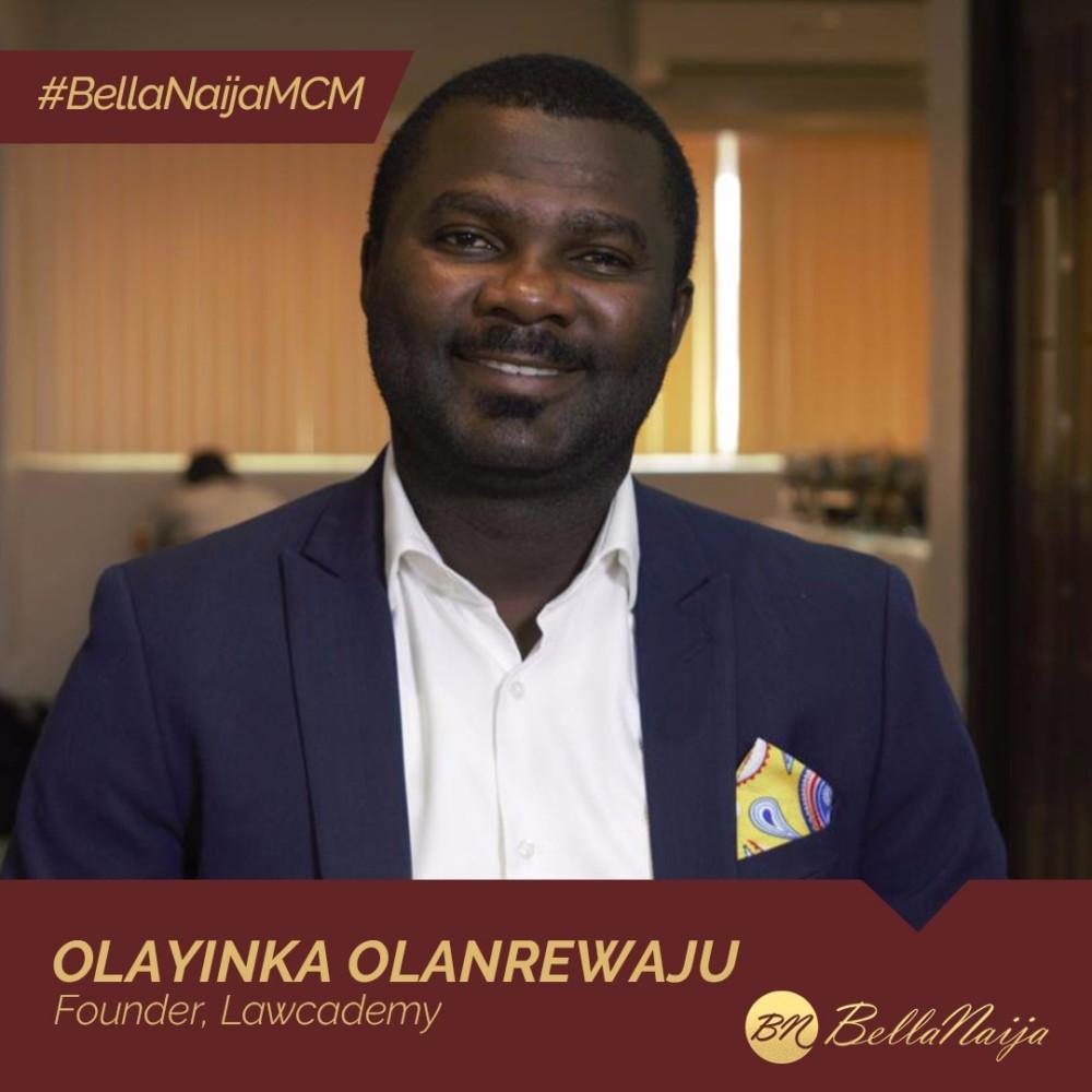 #BellaNaijaMCM Olayinka Olanrewaju of Lawcademy is Helping Law Students Reach their Educational Goals