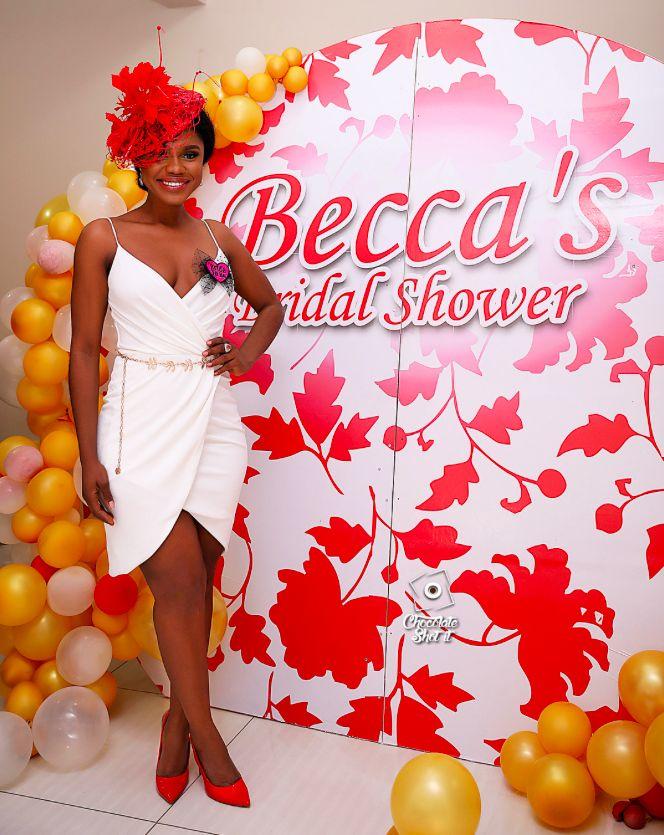 beccas friends throw her a surprise bridal shower