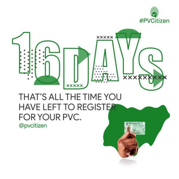 #PVCitizen: You now have 16 Days! | BellaNaija