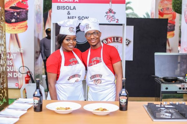 Bisola and Chef Cupid at Baileys Bakefest