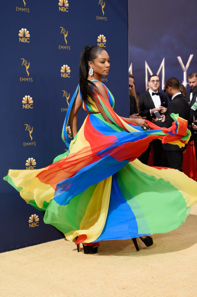 Tiffany Haddish Rocked A Prabal Gurung Gown at Emmy Awards 2018