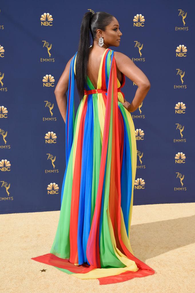 Tiffany Haddish Rocked A Prabal Gurung Gown at Emmy Awards 2018