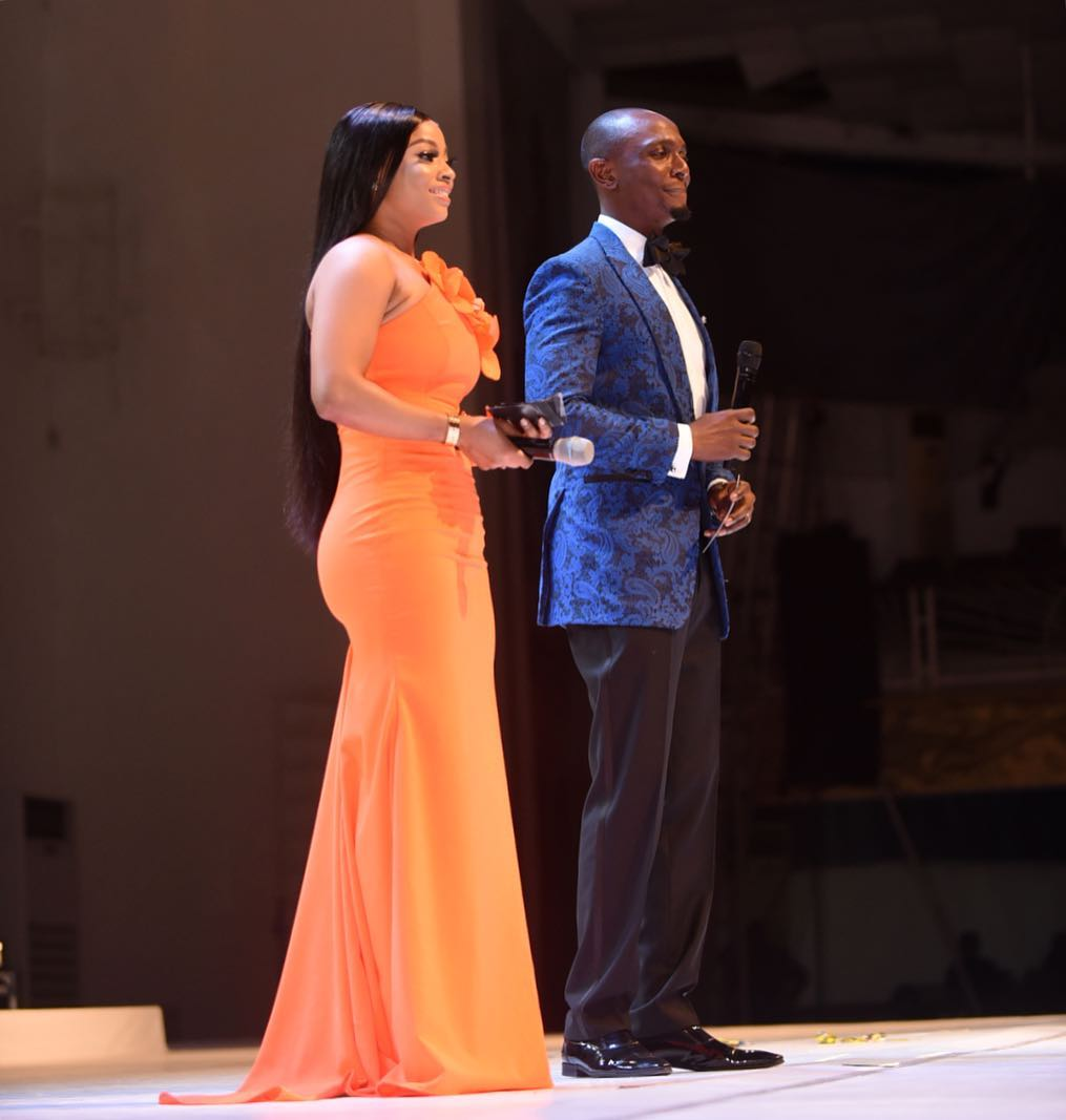 Toke Makinwa Wore Three Outfits At #MBGN2018 And She Slayed Every Look!