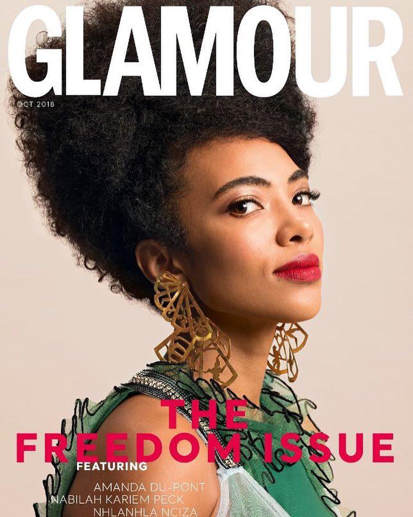 Actress Amanda du-Pont covers Glamour Magazine SA's October Issue