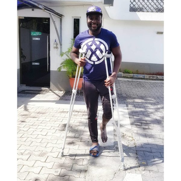Djinee shares Progress 34 Days after Car Crash | BellaNaija