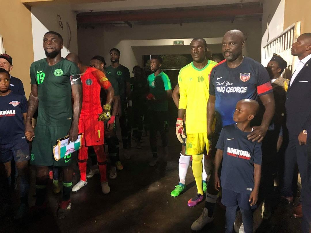 Liberian President George Weah returns to Football in match against Nigeria | BellaNaija