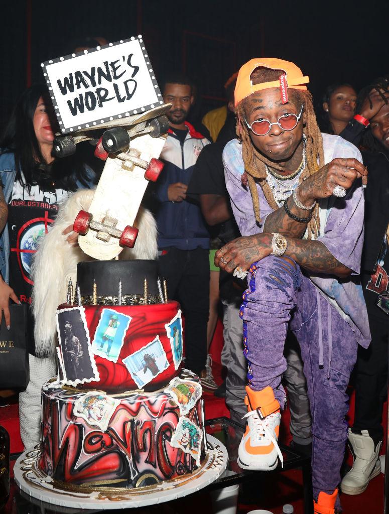 Pleasing Lil Wayne Celebrates 36Th Birthday Carter V Release With Chris Personalised Birthday Cards Veneteletsinfo