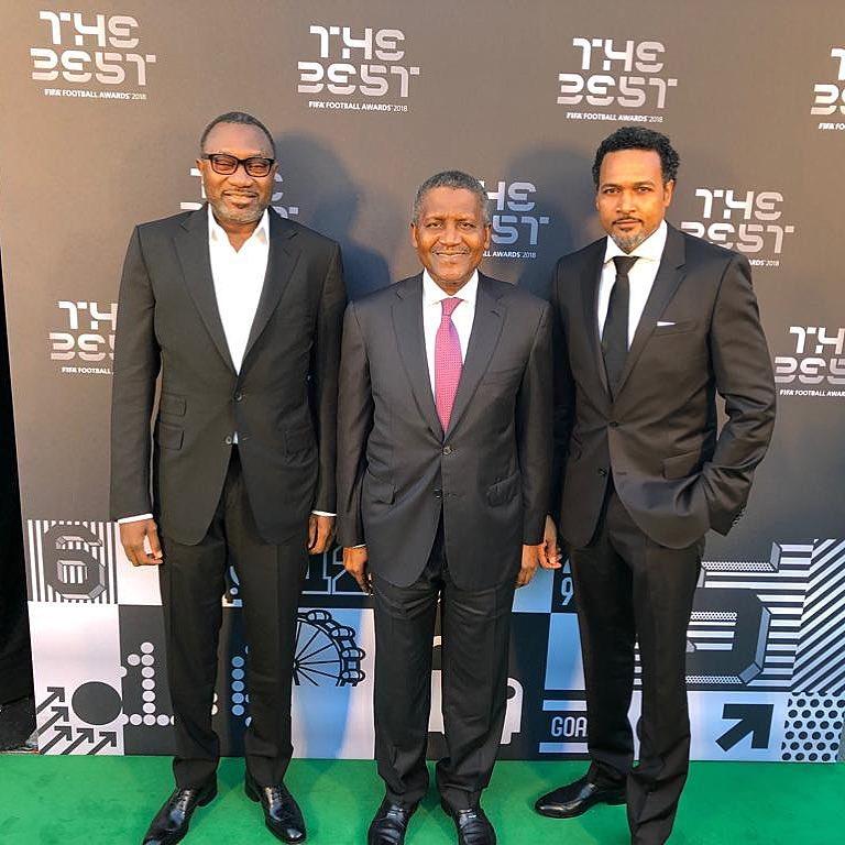 Femi Otedola, Dangote & Cecil Hammond spotted at FIFA's The Best award ceremony | BellaNaija