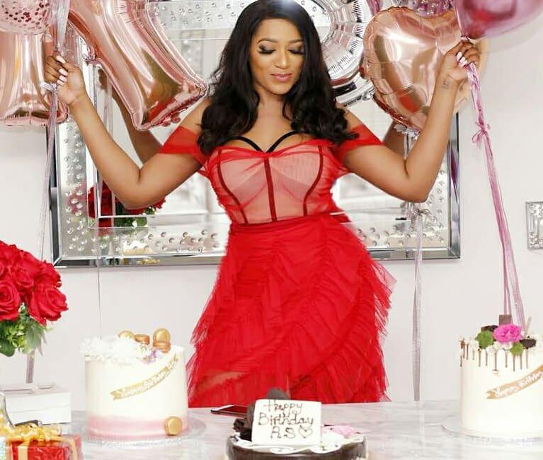 Rukky Sanda jumps off Plane for her Birthday | BellaNaija