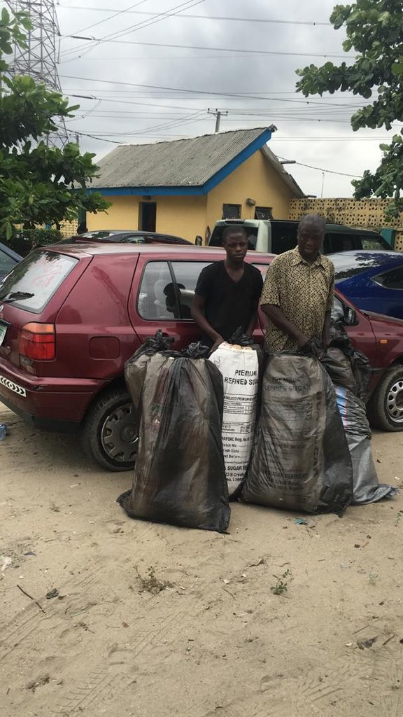 Lagos Police arrest Suspected Weed Merchants with 7 Bags of Cannabis | BellaNaija