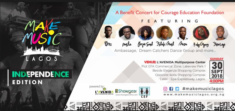 CEF charity concert banner