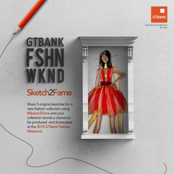 GTBank Fashion Weekend Sketch Competition banner