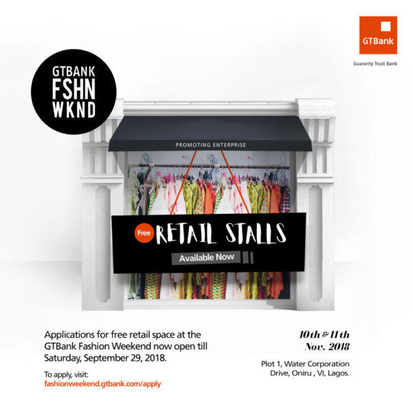 2018 GTBank Fashion Weekend Free Stall Banner