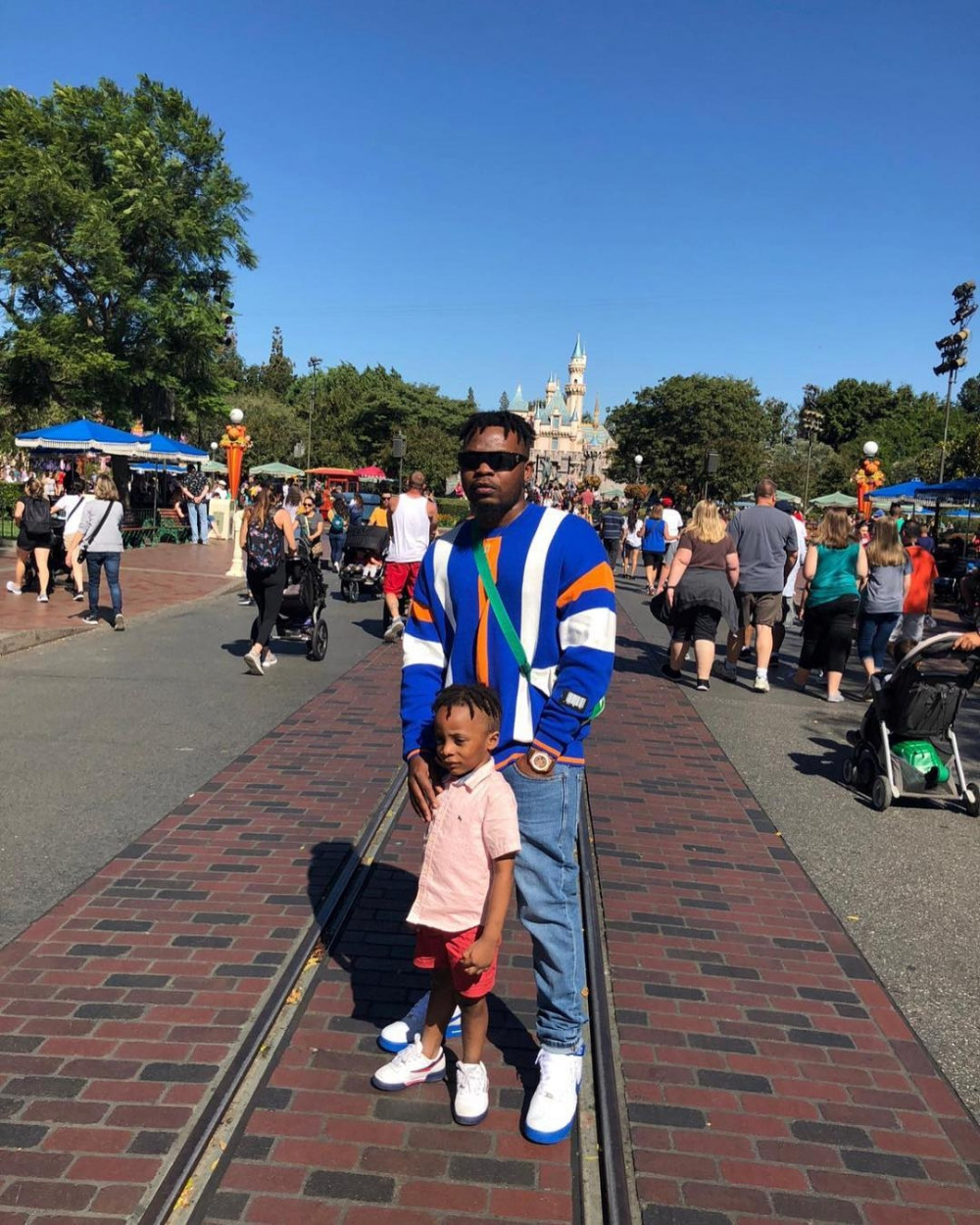 BN Sweet Spot: Olamide & his Son Having a Good Time in