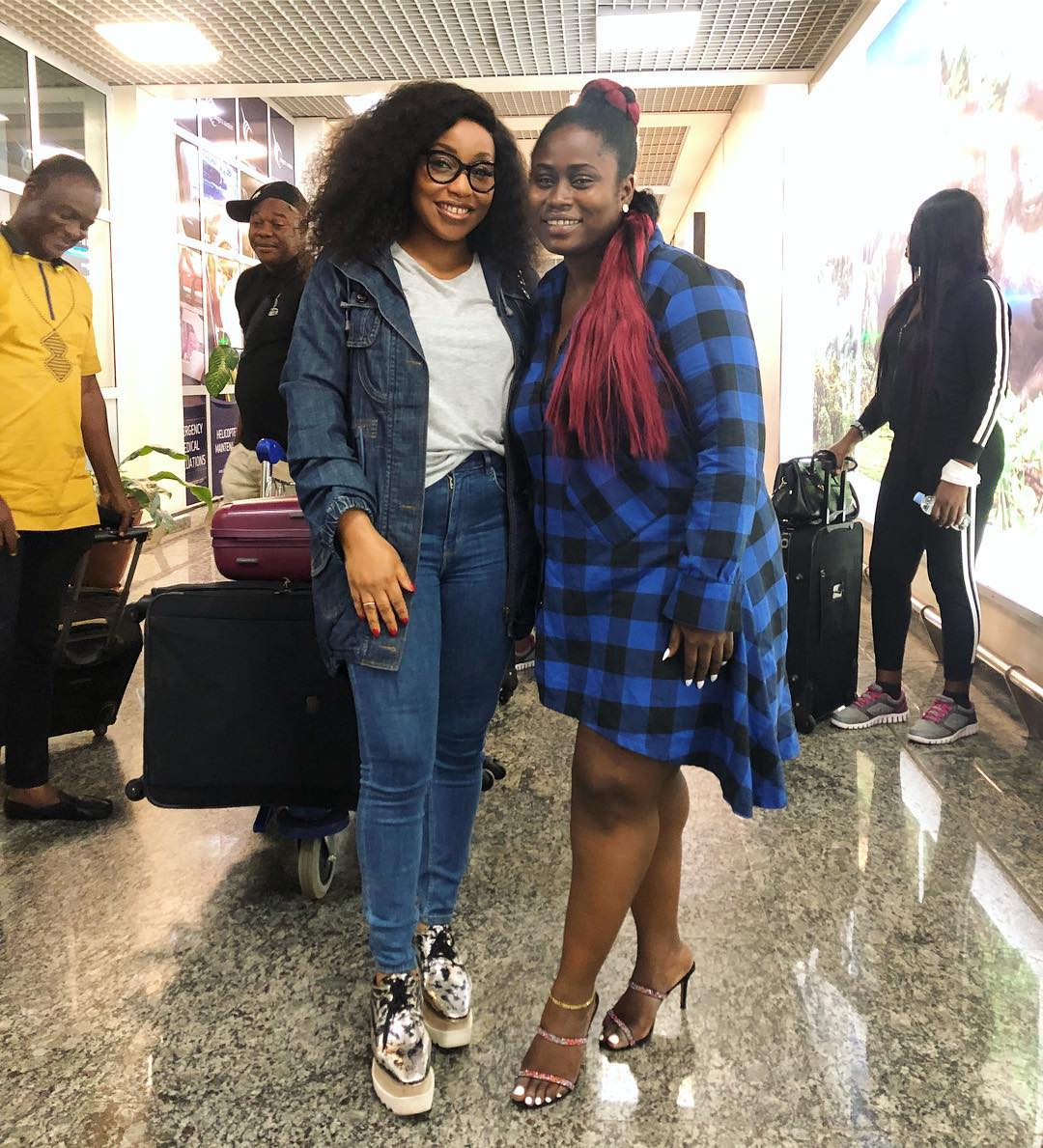 Rita Dominic, Chris Attoh, Joselyn Dumas, Lydia Forson arrive Kigali for the 2018 Africa Movie Academy Awards | #AMAA2018