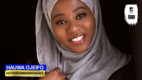 She won! They all won! Hauwa Ojeifo named as 1 of the winners of #MTVEMA Generation Change Award | BellaNaija