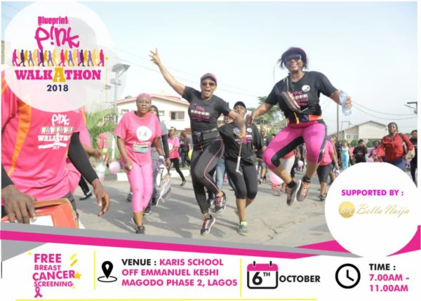 Pink Walkathon 2018 Breast Cancer Awareness Campaign Banner 2