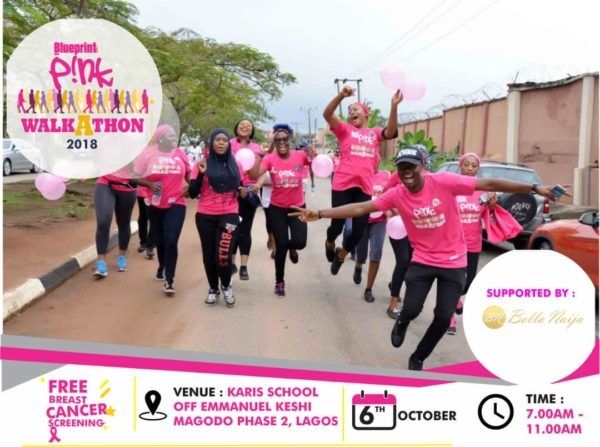 Pink Walkathon 2018 Breast Cancer Awareness Campaign Banner