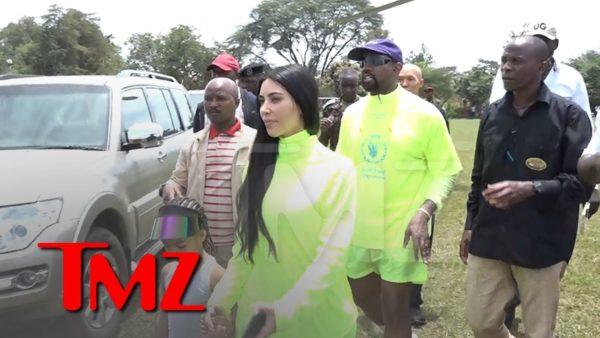 Kanye West and Kim Kardashian hand out Free Yeezys to Kids in Uganda | BellaNaija
