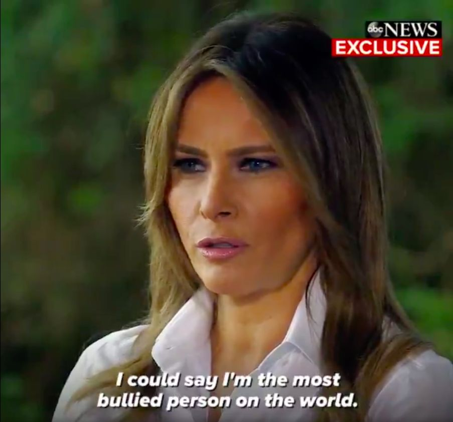 """I could say I'm the most bullied person in the world"" – US First Lady Melania Trump"