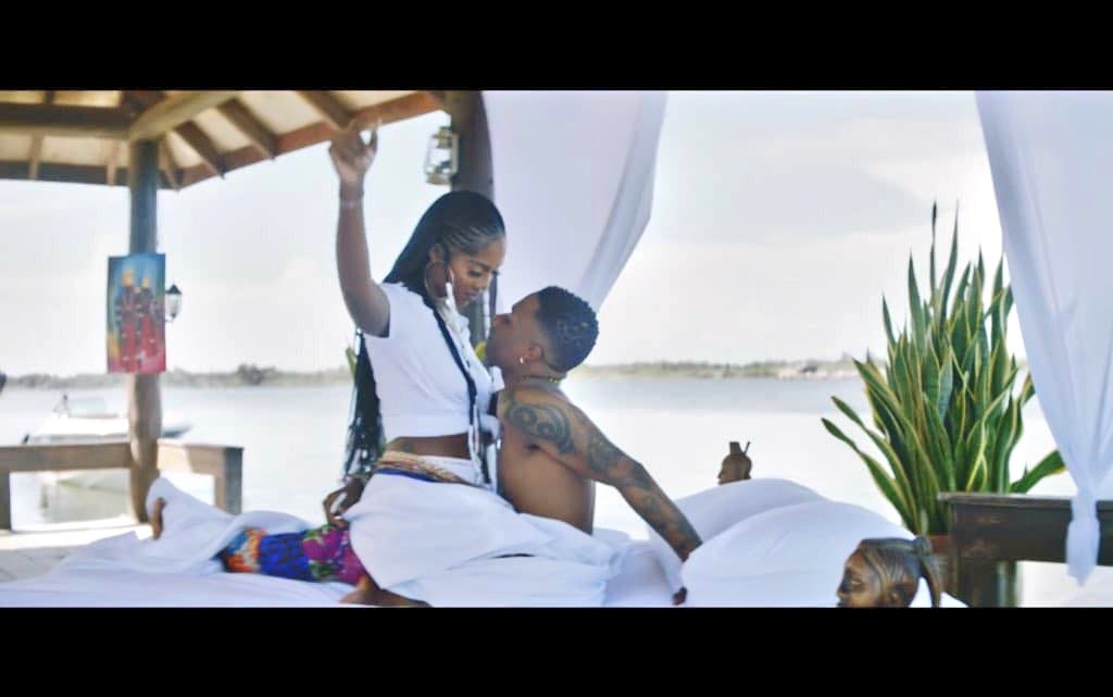 WizKid and Tiwa Savage Get Cozy In The Video For 'Fever'