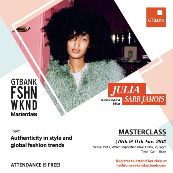 Julia Sarr-Jamois at GTBank Fashion Weekend