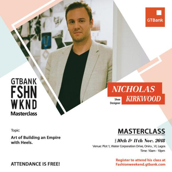 Nicholas Kirkwood GTBank Fashion Weekend Masterclass