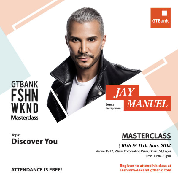 Jay Manuel at the GTBank Fashion Weekend