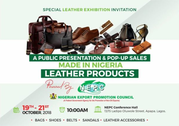 Made-in-Nigeria Leather products exhibition