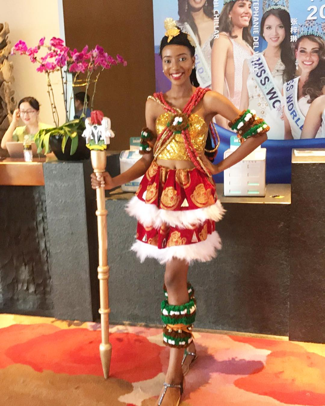 #MissWorld2018: Anita Ukah is showing the Unity & Diversity in Nigeria with Costume for 'Dances of the World Auditions'