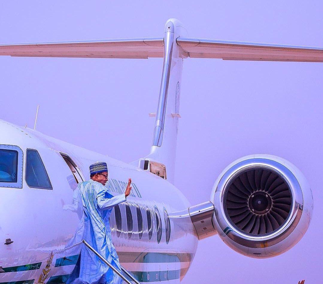 President Buhari departs Nigeria for Paris Peace Forum