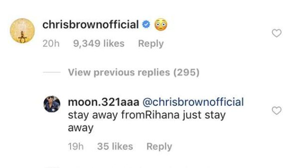 Chris Brown is still thirsting on Rihanna's Instagram and Fans aren't Pleased