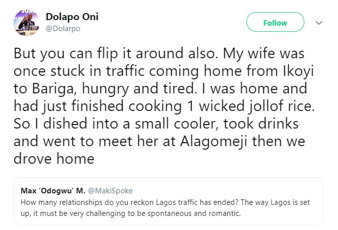 BN Sweet Spot: Sharing Jollof with your Wife in Lagos Traffic just might be the most Romantic Thing   BellaNaija