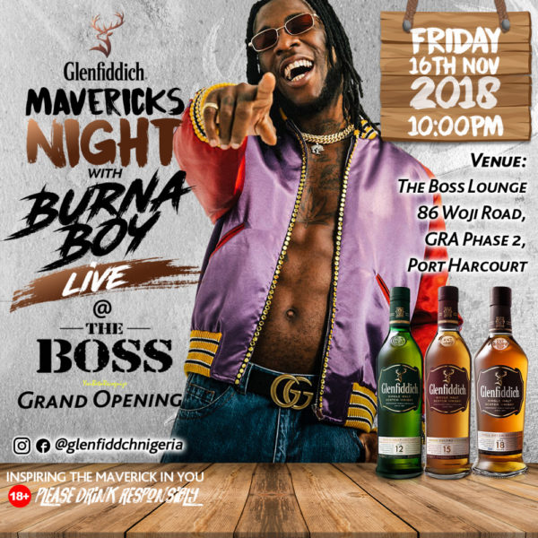 Burna Boy at #MavericksNight Party