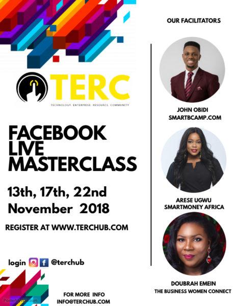 TERC Hub Facebook Live Masterclass for Entrepreneurs