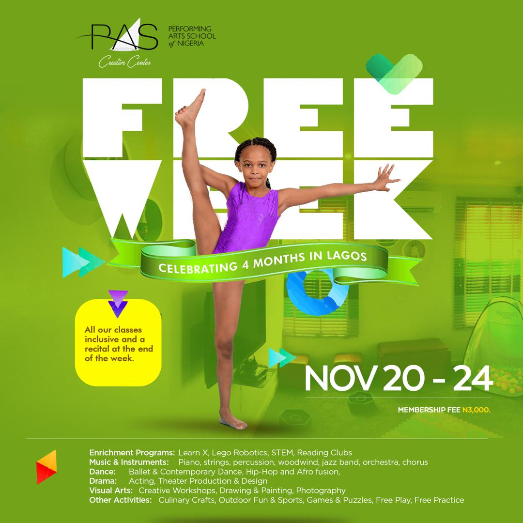 Performing Arts School of Nigeria is offering Free Classes