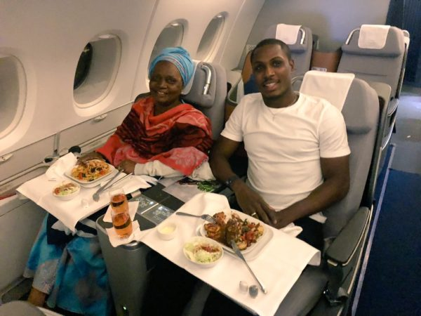 BN Sweet Spot: Super Eagles' Odion Ighalo takes his Mum Jetsetting ❤ | BellaNaija