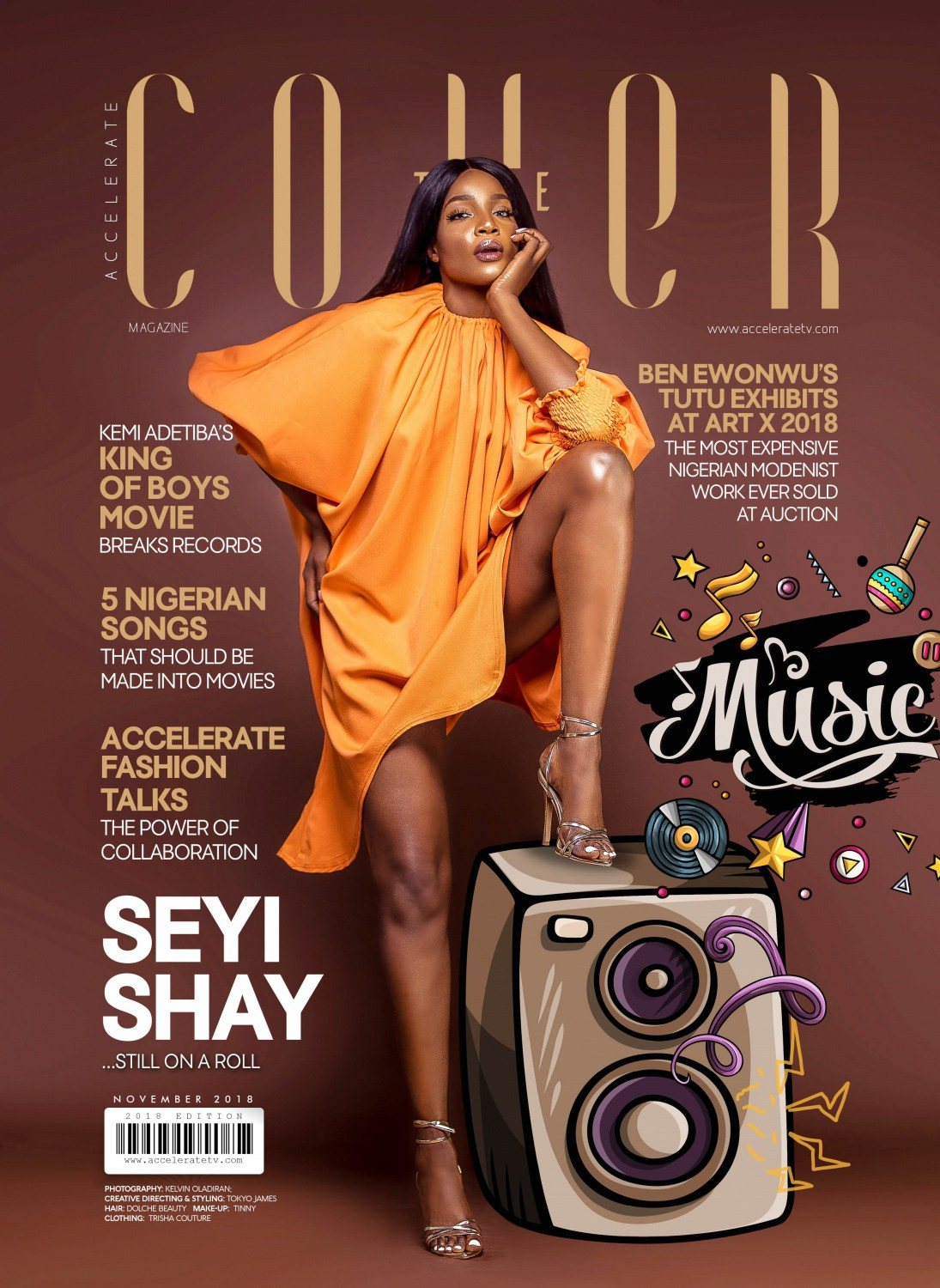 Seyi Shay talks her Style, Music & Personality on Accelerate TV's 'The Cover'