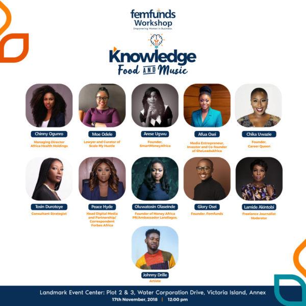 Speakers at Femfunds 2.0 Workshop