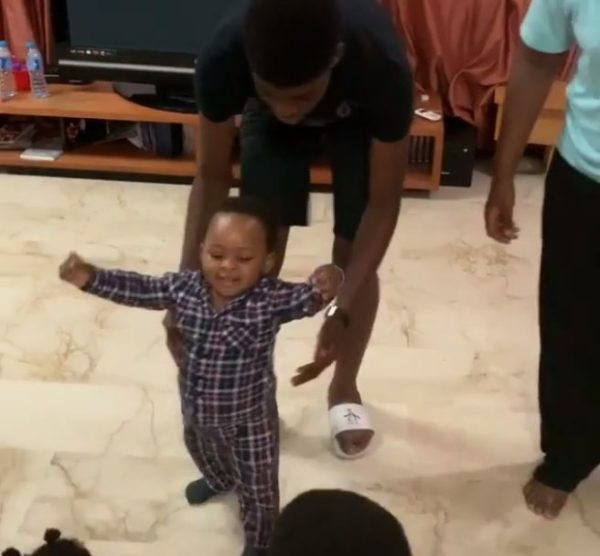 BN Sweet Spot: Ibidunni Ighodalo's son Zenan takes his First Steps