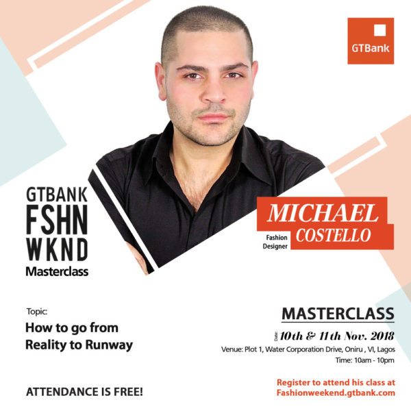 Michael Costello at GTBank Fashion Weekend