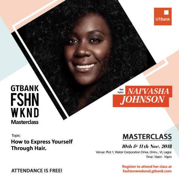 Nai'vasha Johnson at GTBank Fashion Weekend